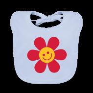 Baby Lätzchen ~ Baby Bio-Lätzchen ~ Happy Flower - Baby Bio Lätzchen