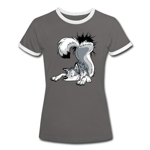 UN-STUCK Husky Grey/Grau - Frauen Kontrast-T-Shirt