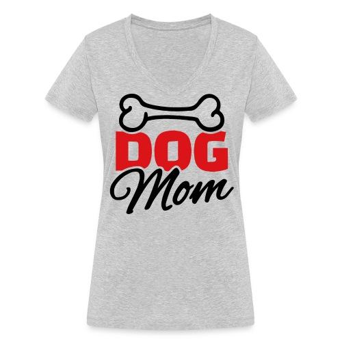 Dog Mom - T-shirt bio col V Stanley & Stella Femme