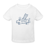 T-Shirts ~ Kinder Bio-T-Shirt ~ Feuerwehr (silber) - Kinder Bio T Shirt