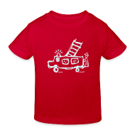 T-Shirts ~ Kinder Bio-T-Shirt ~ Feuerwehr (power reflex) - Kinder Bio T Shirt