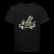 T-Shirts ~ Kinder Bio-T-Shirt ~ Feuerwehr (glow in the dark) - Kinder Bio T Shirt