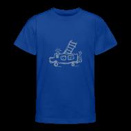 T-Shirts ~ Teenager T-Shirt ~ Feuerwehr (silber) - Kinder T Shirt klassisch