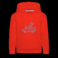 Pullover & Hoodies ~ Kinder Premium Kapuzenpullover ~ Feuerwehr (silber) - Kinder Kapuzenpullover