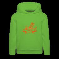 Pullover & Hoodies ~ Kinder Premium Kapuzenpullover ~ Feuerwehr (neonorange) - Kinder Kapuzenpullover