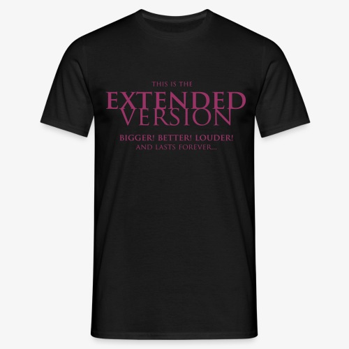 T-shirt, Men: Extended Version [multiple colors, purple print] - T-shirt herr