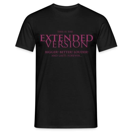 T-shirt, Men: Extended Version [multiple colors, purple print] - T-shirt herr