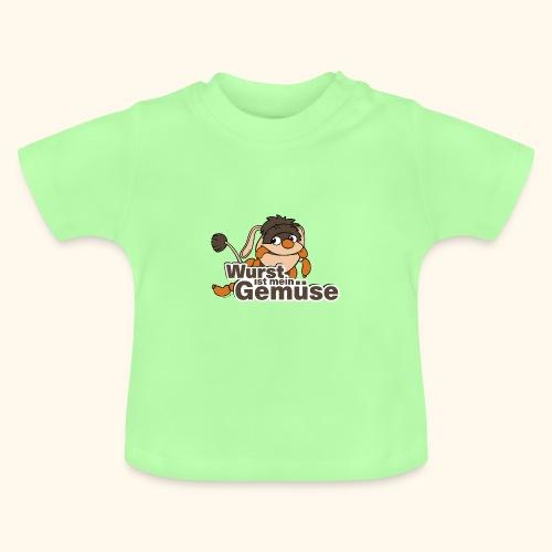 Baby T-Shirt Moppi Wurst ist Gemüse - Baby T-Shirt