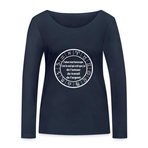 Horoscope amour travail santé - T-shirt manches longues bio Stanley & Stella Femme