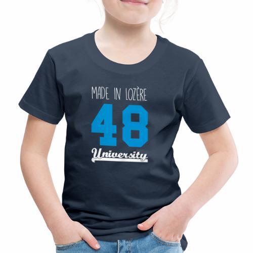 Tee shirt Enfant Made in Lozère - Blue & White - T-shirt Premium Enfant