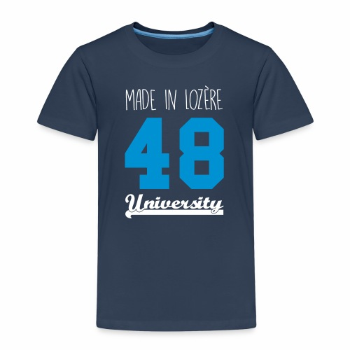 Tee shirt Enfant Made in Lozère - Blue & White - T-shirt Premium Enfant