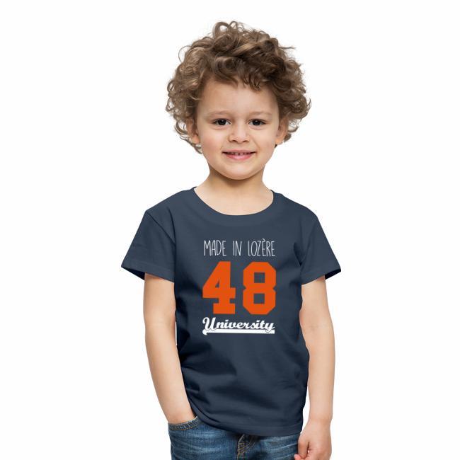 8206e71ece9cb Tee shirt Enfant Made in Lozère - Orange   White