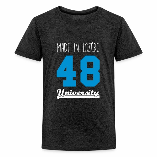 Tee shirt Enfant ado Made in Lozère - Blue & White - T-shirt Premium Ado