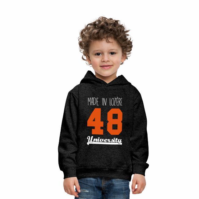 c6d511c0f8303 Sweat shirt Enfant Made in Lozère - Orange   White