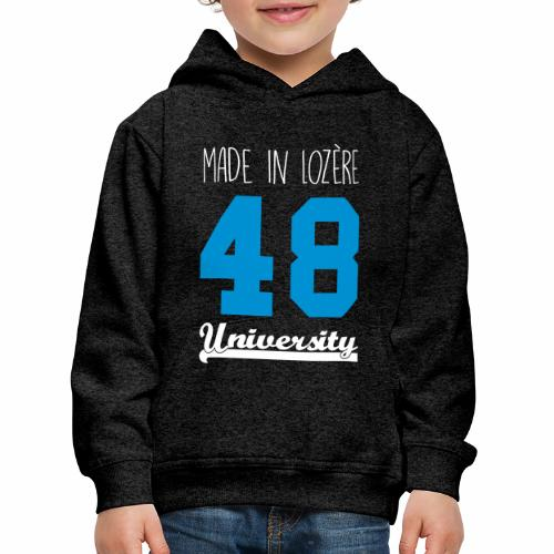 a9138e62a35c6 Sweat shirt Enfant Made in Lozère - Blue   White - Pull à capuche Premium  Enfant