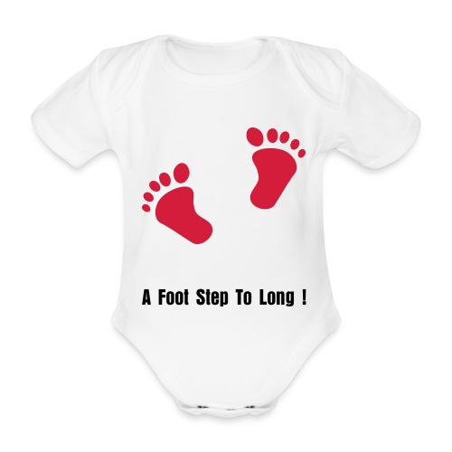 A Foot Step To Long  - Organic Short-sleeved Baby Bodysuit