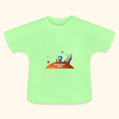 Baby T-Shirt Raketenflieger Timmi auf Planet - Baby T-Shirt