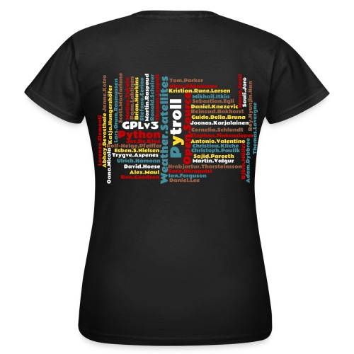 Pytroll woman shirt with contributor names - Women's T-Shirt