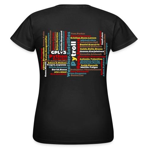 Pytroll woman shirt with contributor names - Women's T-Shirt