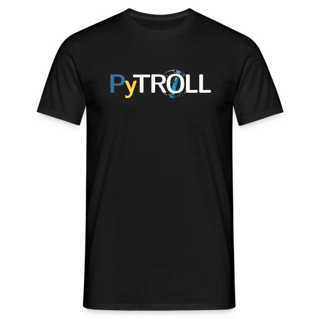 Pytroll man shirt with contributor names