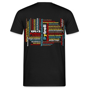 Pytroll man shirt with contributor names - Men's T-Shirt