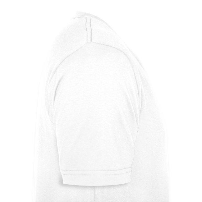 Männer Bio-T-Shirt mit V-Ausschnitt Logo vorne Snowboarder hinten