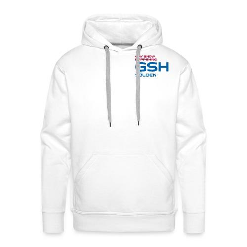 Männer Premium Hoodie GSH Logo vorne - Männer Premium Hoodie