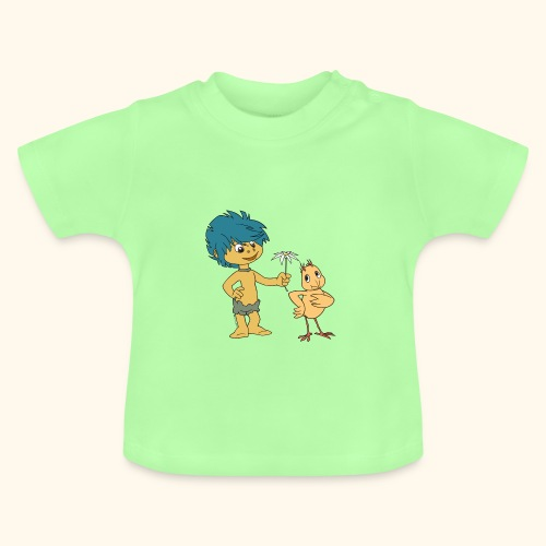Baby T-Shirt Plumps & Küken mit Blume - Baby T-Shirt