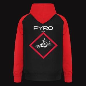 artificier tshirt Pyro Back black - Sweat-shirt baseball unisexe