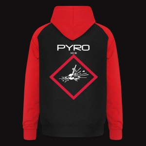 artificier tshirt Pyro Back black - Sweat-shirt baseball unisexe