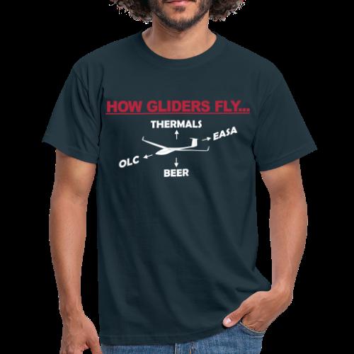 Wie Segelflugzeuge fliegen - Männer T-Shirt
