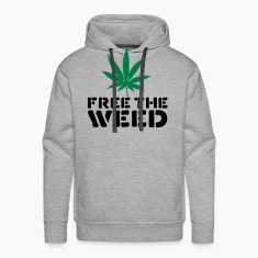 Heather grey Free The Weed Hoodies & Sweatshirts