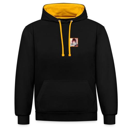 MemeMeme golden logo hoodie - Contrast Colour Hoodie