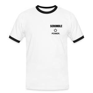 T-Shirt Scromble Power ON - Mannen contrastshirt