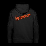 Sweat-shirts ~ Sweat-shirt à capuche Premium pour hommes ~ Hoodie Black & Orange