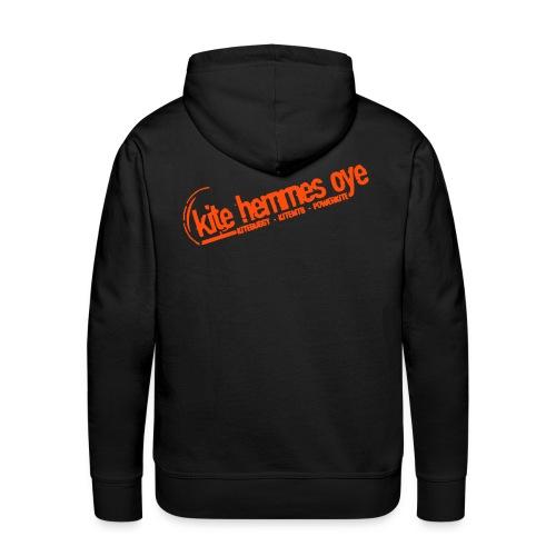 Hoodie Black & Orange - Sweat-shirt à capuche Premium pour hommes
