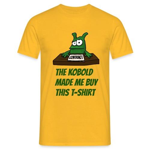 Kobold made me buy T-Shirt Men yellow - Men's T-Shirt