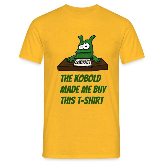 Kobold made me buy T-Shirt Men yellow