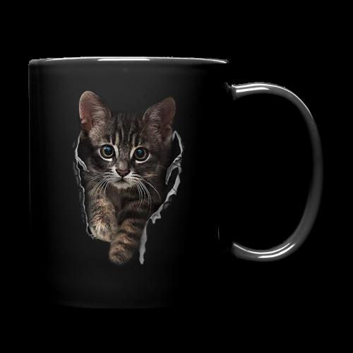 Katze Riss - Tasse einfarbig
