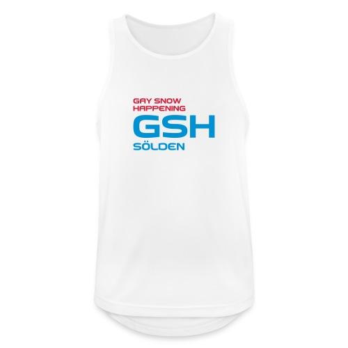 Männer Tank Top atmungsaktiv GSHlogo vorne - Männer Tank Top atmungsaktiv