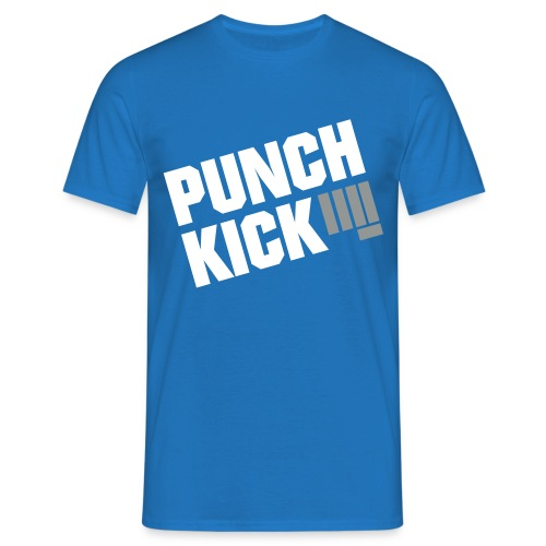 Punch Kick - Men's Tee (Blue) - Men's T-Shirt