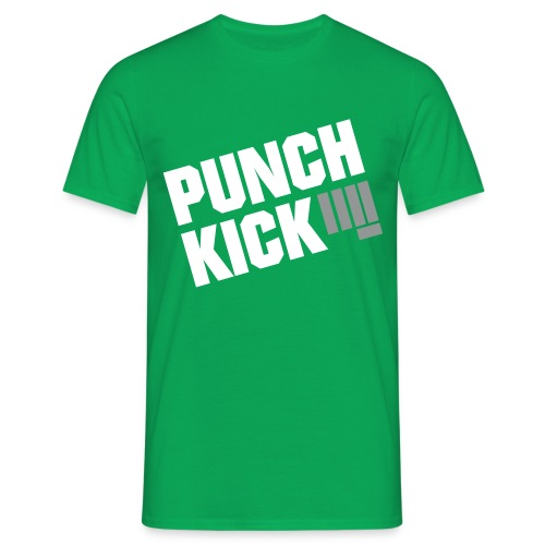 Punch Kick - Men's Tee (Green) - Men's T-Shirt