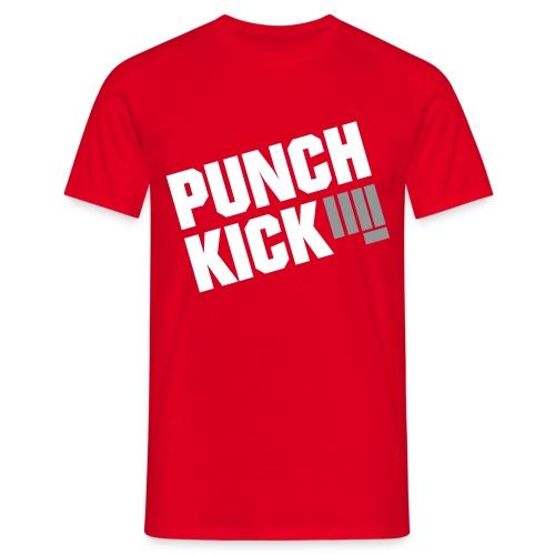 Punch Kick - Men's Tee (Red) - Men's T-Shirt