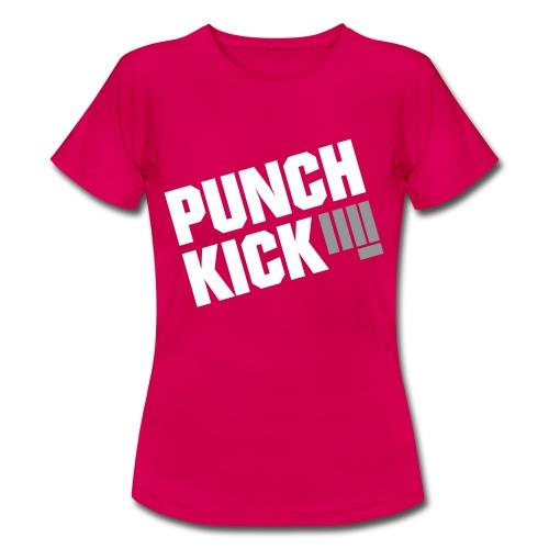 Punch Kick - Women's Tee (Magenta) - Women's T-Shirt
