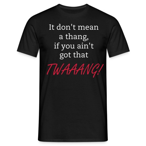 Men's Classic T-Shirt - TWAAANG! (Black) - Men's T-Shirt