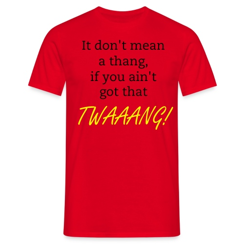 Men's Classic T-Shirt - TWAAANG! (Red) - Men's T-Shirt