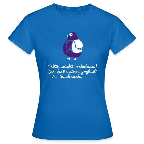 Bitte nicht schubsen T-Shirt Women blue - Women's T-Shirt