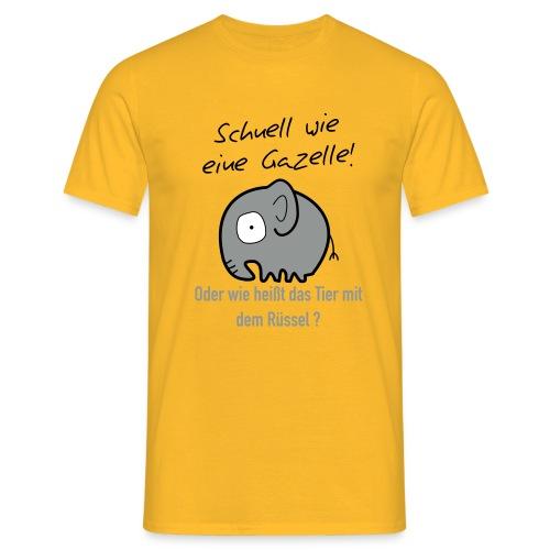 Schnell wie Gazelle T-Shirt Men yellow - Men's T-Shirt