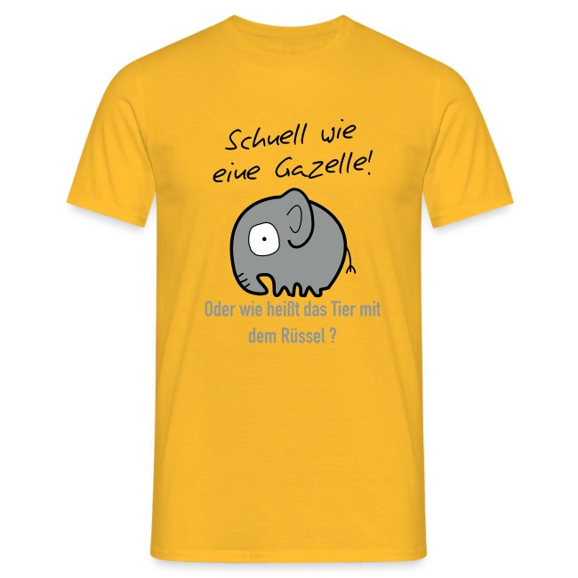 Schnell wie Gazelle T-Shirt Men yellow