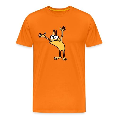 Annoyed Kobold Men T-Shirt orange - Men's Premium T-Shirt